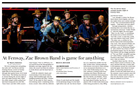 """At Fenway, Zac Brown Band is game for anything,"" The Boston Globe"
